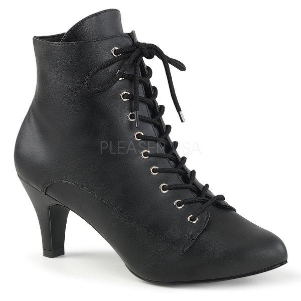 Schwarze Stiefelette mit Schnürung DIVINE-1020